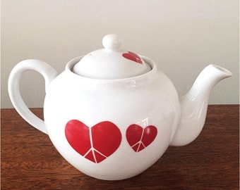 Peace Heart Tea Pot with strainer