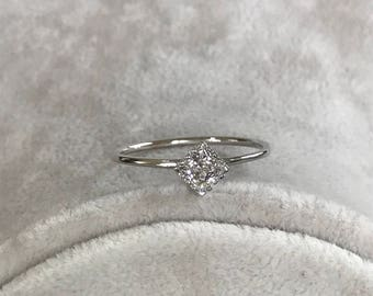 Rings, Engagement Ring, White Gold Ring, Square Cut Ring, Wedding Ring, Promise Ring, Anniversary Ring, Women Rings, Bridal Rings, Gold Ring