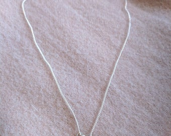 Silver dainty black spider or fly necklace
