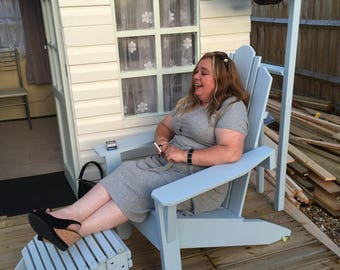 Adirondack Garden Chair and stool