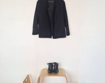 Black Quilted Silk Jacket
