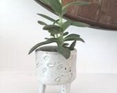 HOLIDAY SALE Ceramic planter with matte white glaze. Plant holder, Planter, succulent planter, cactus planter, indoor planter,gift
