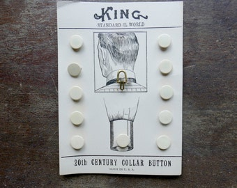 Edwardian Era New Old Stock Collar Buttons Card of 12