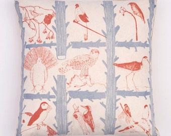 SALE * Life of Birds Cotton Cushion Pillow
