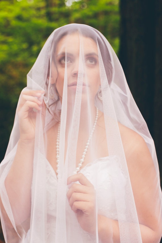 Wedding Veil, Bridal Veil, Blusher Veil, Soft, English Net Veil, Two Layers