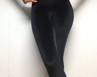 Puckoo Couture, NICO,Black, Velvet, Velour, Lycra, Spandex, Stretch, Panel, Leggings, Yoga Leggings, Gym Leggings, Womens Leggings