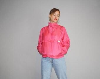 1990s Vintage Nike Pink Windbreaker Jacket  - Vintage Nike  Jacket  - Vintage  Nike Festival Jacket  - W00108