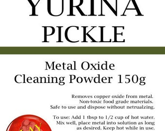 Yurina Pickle TOO130 safe pickling solution for copper, bronze, sterling silver