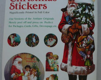 B. Shackman & Co. Old Fashioned Christmas Stickers Booklet, Mint, Vintage Christmas Stickers, Victorian Christmas Stickers