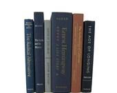 Blue  Old Books, Decorative Books , Decorative Book Set , Photo Props ,  Wedding Book Decor , Book Lover Set, New House Gift