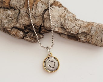 Wisconsin, Stamped Wisconsin Necklace, Wisconsin Jewelry, State Jewelry, Wisconsin Charm, Wisconsin, WI