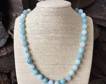 Amazonite Gemstones . Necklace