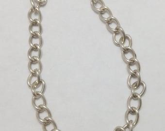 Vintage Sterling Silver Link Charm Bracelet  FREE SHIPPING
