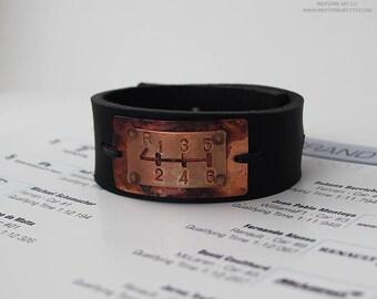 Automotive Jewelry: Mens Bracelet with Gear Shift.