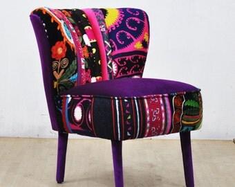 50's Clubchair - purple love