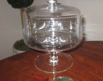 crystal Cloche Pedestal Dessert Stand/Cake Stand Serveware cake dome cover,table top,charming