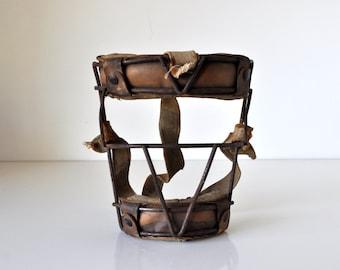 Vintage Catchers Mask Metal and Leather MacGregor 0351