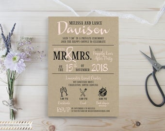 Reception Only Invite - Happily Ever After Party - Reception Invitation - Reception Only - We Got Married - Marriage Reception - Printable
