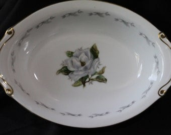 Rosilinda Pattern Oval Vegetable Bowl by Yamaka (Japan)