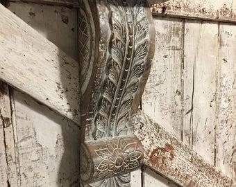 Wood Corbel Wall Shelf vintage hand carved vintage