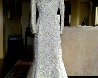 Vintage FANYA SF Maxi Formal Gown w Flare Excellent Condition