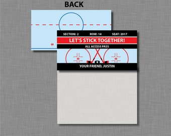 Hockey Valentine Bag Toppers Printable Customized Classroom PDF