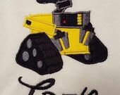 Wall E personalized machine embroidered shirt....Disney World...Disney Land....Disney cruise....Wall-E