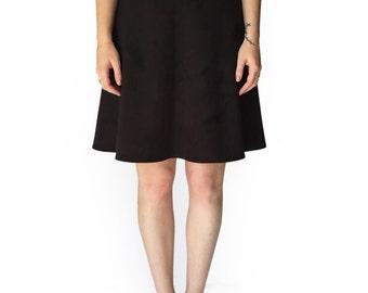 Sale, Black vegan skirt for work, Womens skirts, Black suede like skirt, Handmade skirt, Basic skirt, Mini skirt, Evening skirt, Short skirt