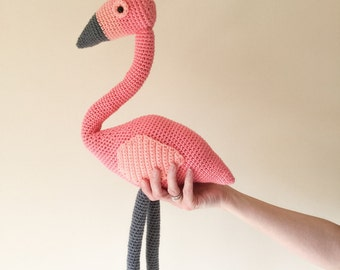 Flamingo: A Crochet PDF Pattern in UK and US terms