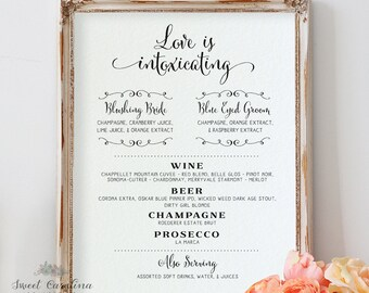 Signature Cocktail Printable | Signature Drink Sign | DIY Wedding Bar Sign | Bar Menu Printable | Wedding Printable | Digital Prints
