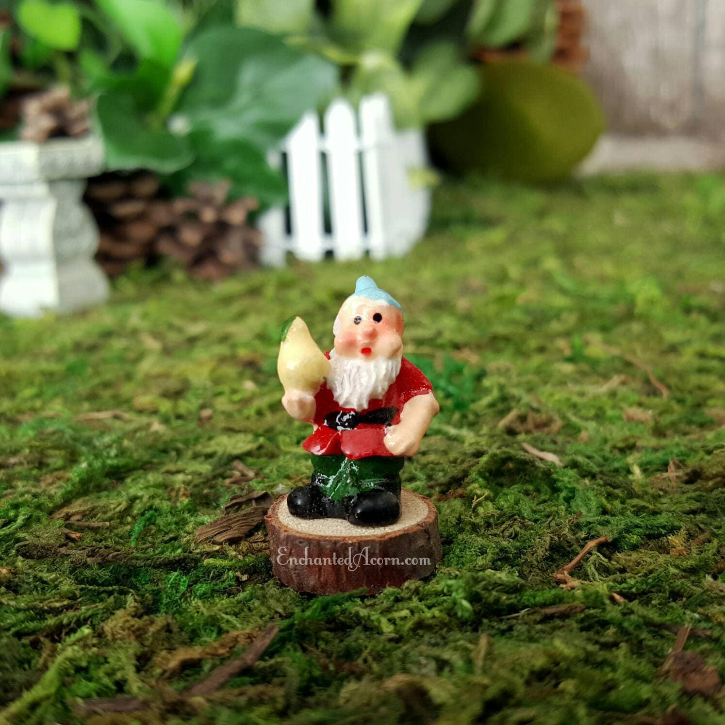Micro Miniature Fairy Garden Gnome With Onion Fairy