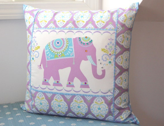 "Elephant Pillow 20"" x 20"" with Down Insert"