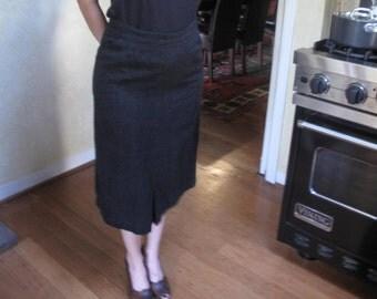 Vintage Black Straight Skirt