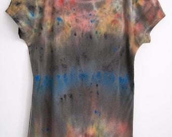 Grunge Tshirt, Colorful Grunge Tee, Womens Tie Dye Tee