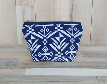Patterned Makeup Bag, Woven Bag, Tote Bag, Makeup Bag, Make up Bag, Cosmetic Bag, Large Makeup Bag, Large Cosmetic Bag, Makeup Organizer