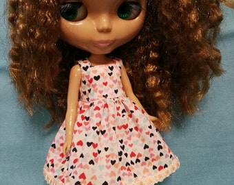 Blythe Doll Outfit Clothing HEART print Dress