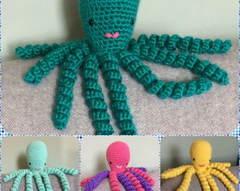Stuffed Octopus - Handmade Amigurumi Crocheted Knit (Excellent for Preemies!)