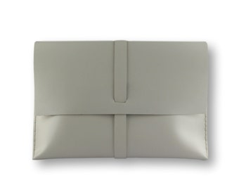 Smooth Macbook Case #toxleather   Leather clutch   Handmade macbook sleeve