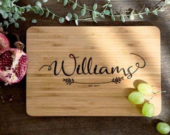 Custom Cutting Board Wood Cutting Board Personalized Wood Cutting Board Bridal Shower Gift Couples Gift Christmas Gift Cutting Board #22