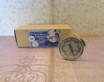 Vintage Tel-Tru Deep-Fat, Candy, Jelly Thermometer