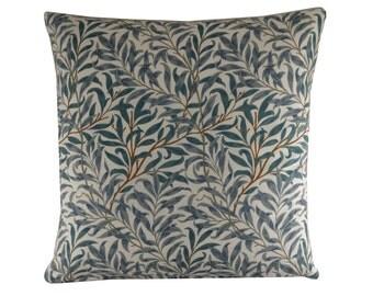 """William Morris Pillow Cover, 16x16"""" Leaf Pillow, Morris Cushion, 40x40cm, Botanical Cushion Cover, Spring/Summer Home Decor"""