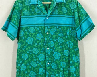 Vintage 60's Liberty House Floral Print Hawaiian Shirt Fits like a M/L