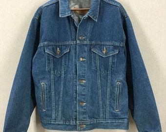 Vintage Levi's Blue Denim Trucker Style Jean Jacket Sz Medium USA