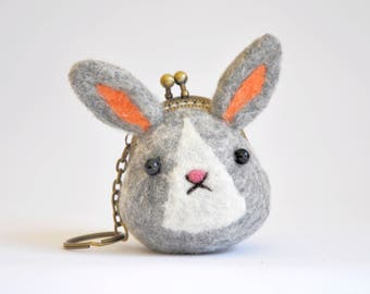 Bunny Coin Pures, Bunny Bag, Kiss Lock Pouch, Frame Wallet