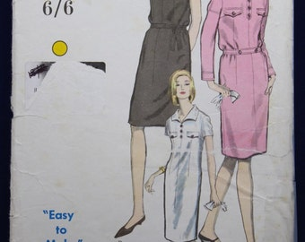 1960's Sewing Pattern for Woman's Dress in Size 14 - Vogue 6509