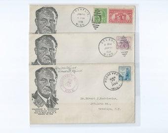 Franklin Delano Roosevelt Event Covers Postmarked Franklin * Delano * Roosevelt, MINN January 30th 1934