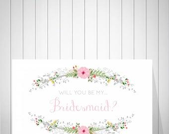 Bridesmaid Card, Will you be my Bridesmaid, Be my bridesmaid? Bridesmaid proposal, Wedding Invitation, Bridesmaid Invitation - 47977B