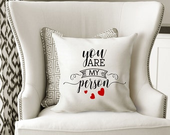 You are my person,Throw Pillow, pillow cover,pillows, decirative pillows, throw pillow covers, cushion cover, best friend gift, novelty gift