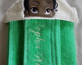 Frog Princess,Kids Hooded Towel,Personalized Hooded Towel,Hooded Towel,Childs Hooded Towel,Kids Bath Towel,Birthday Gift for kids,Kids Towel
