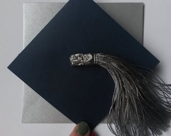 Navy/Silver Graduation Card